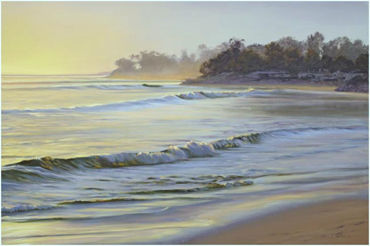 santa barbara beachs painting