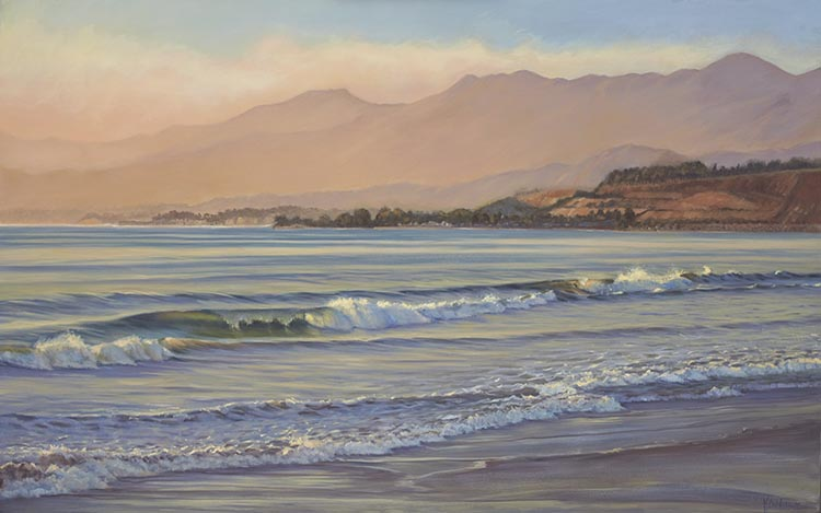 La conchita beach painting