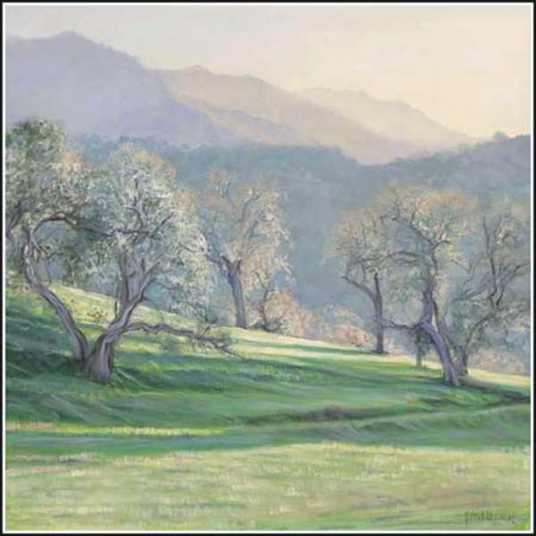 santa ynez sunset painting