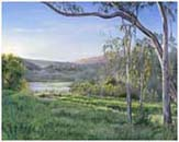Lake Los Carneros painting
