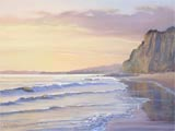 Santa Barbara Sunset painting by Karen fedderson