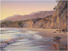 Padaro Lane beach painting sunset