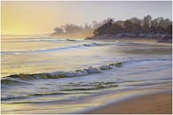 padaro Beach Walk painting by Karen Fedderson
