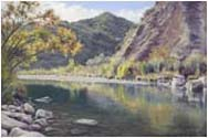 santa ynez creek landscape painting
